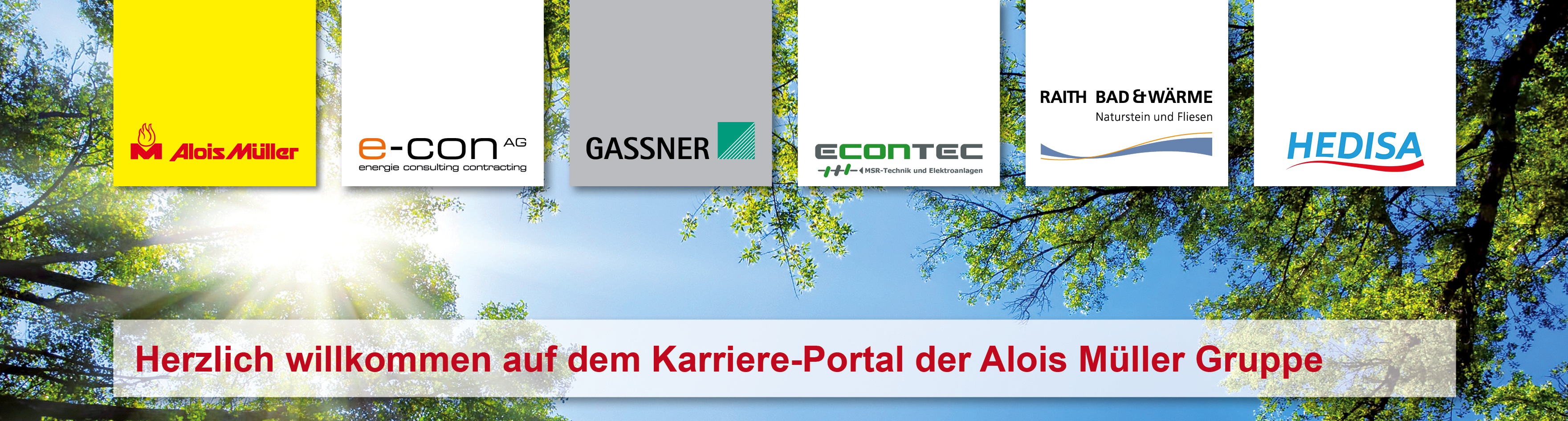 Alois Müller Group career portal banner