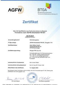 AGFW Zertifikat