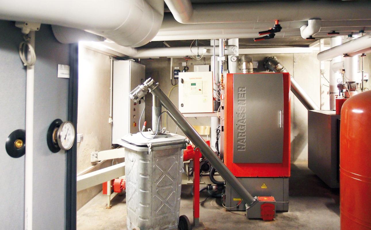 Biomasseanlage in Wohnungsanlage