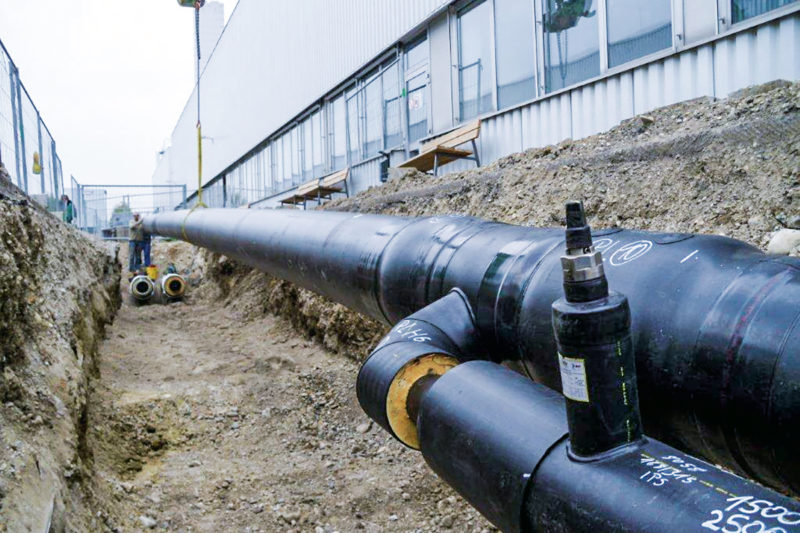Pipeline construction for district heating in Mindelheim with AGFW certificate
