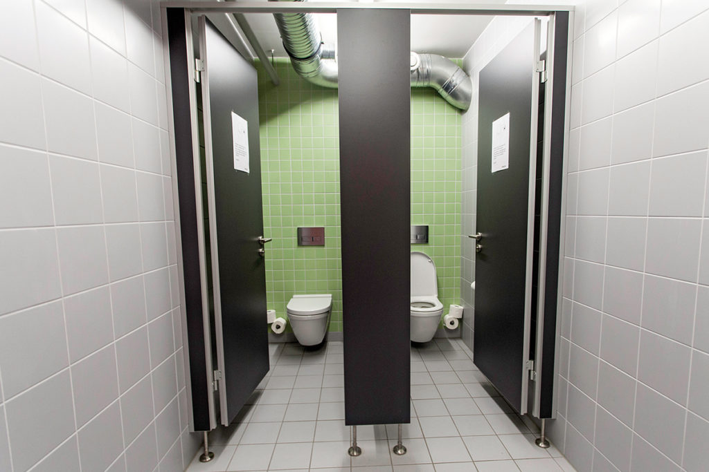 Sanitary facilities for business clients
