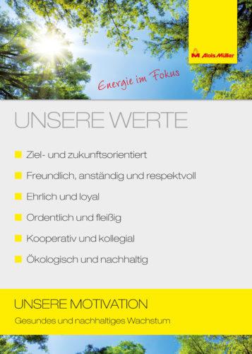 Werte Alois Müller Gruppe