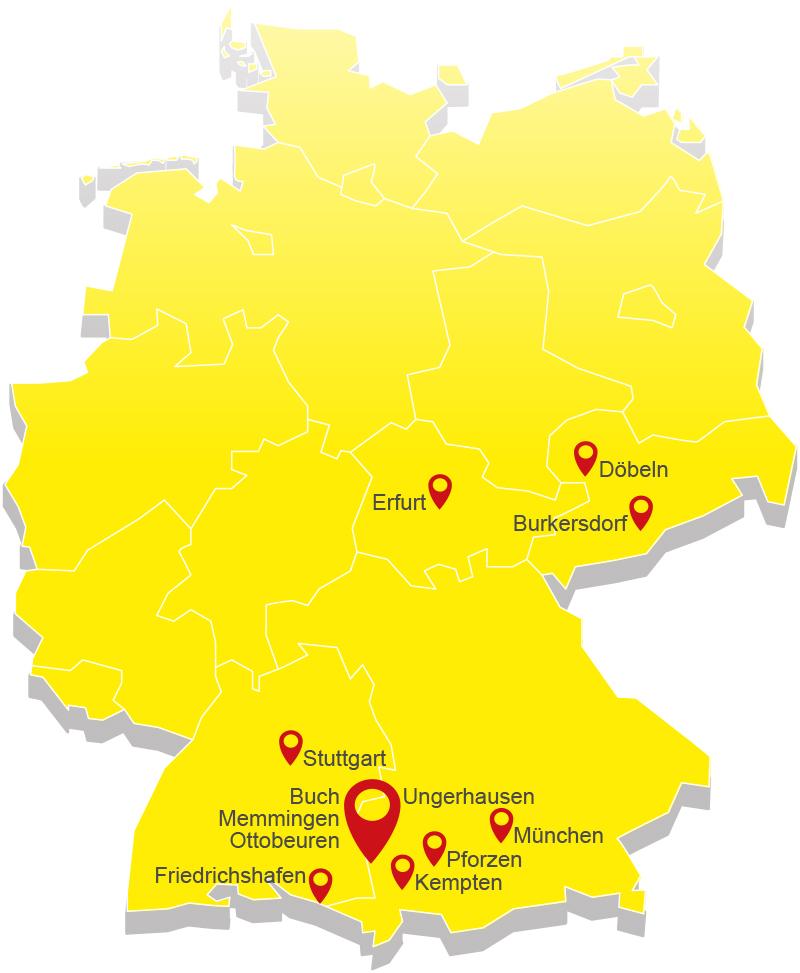 Standorte Müller in Deutschland
