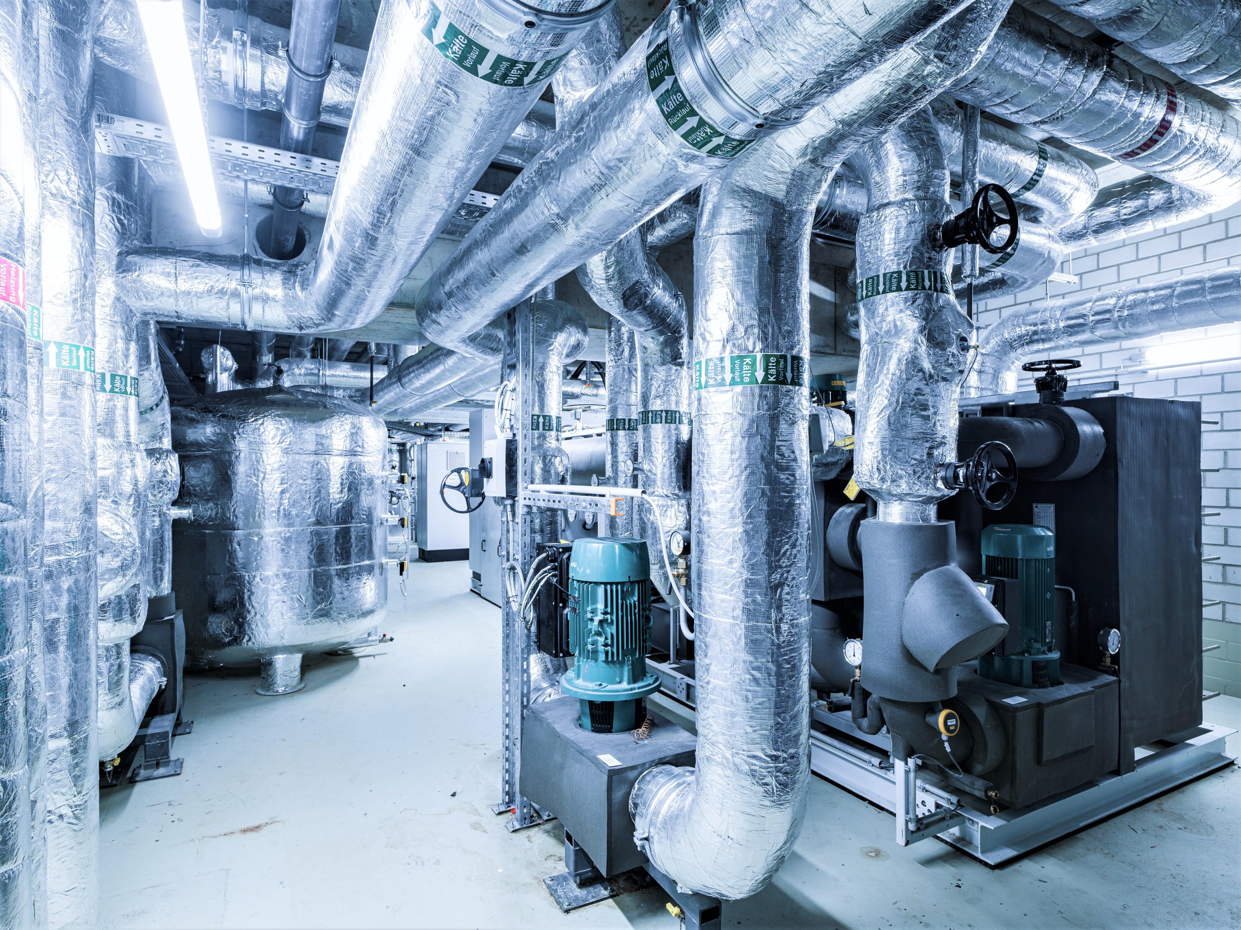 Kältetechnik im neuen Headquarter der HeidelbergCement AG.