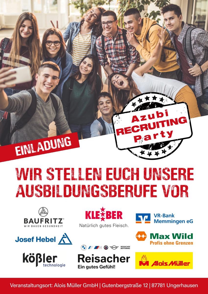 Flyer Azubi Recruiting Party